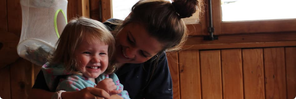family ski holidays with chalet based childcare